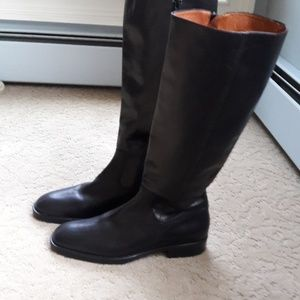 J Crew Black Leather Boots